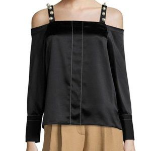 NWOT $495 Sz 2 3.1 Phillip Lim Black Cold Shoulder